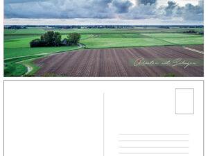 ansichtkaart Schagen weilanden boerderij