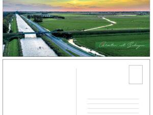 Ansichtkaart Schagen Roeiers landschap