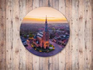 Tuincirkel dibond kerk schagen