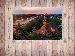 Tuinposter Kerk t Zand