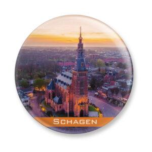 Button Magneet Kerk Schagen