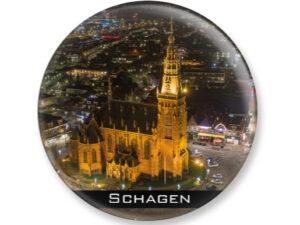 Magneet kerk Schagen avond